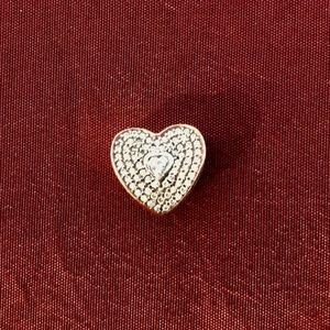 Pandora Pave' Heart Charm